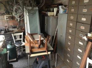 Le garage à débarrasser d'une maison à Brest