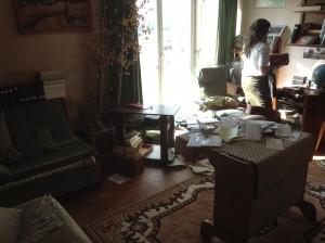 La salon de l'appartement que nous avons débarrassé